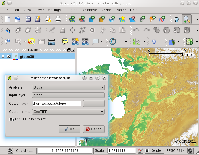 Raster Terrain Modelling Plugin — QGIS User Guide 1 7 4 documentation
